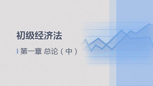 2017经济法基础第一章 总论(中)