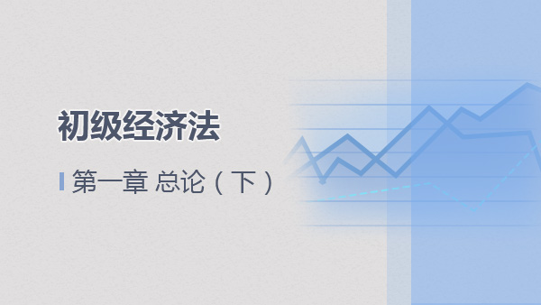 2017经济法基础第一章 总论(下)