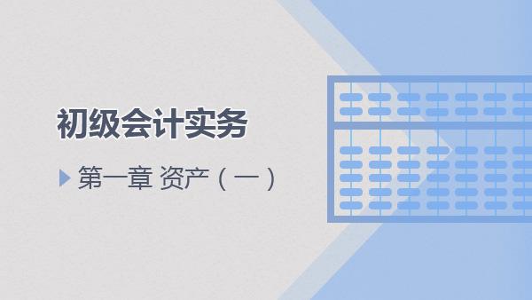2017会计实务第一章第一章 资产(一)