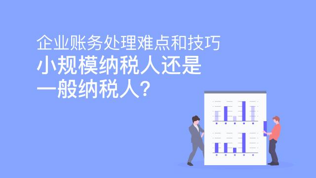 企业账务处理难点和技巧:小规模纳税人还是一般纳税人?