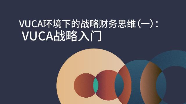 VUCA环境下的战略财务思维(一): VUCA战略入门