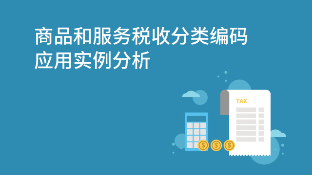 财务经理培训网课-商品和服务税收分类编码应用实例分析