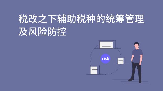 财务经理培训网课-税改之下辅助税种的统筹管理及风险防控