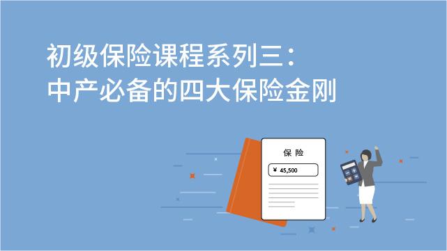财务经理培训网课-初级保险课程系列三:中产必备的四大保险金刚